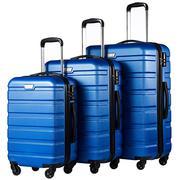 COOLIFE Luggage 3 Piece Set Suitcase Spinner Hardshell Lightweight TS