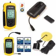 100M Portable Sonar Sensor Fish LCD Finder Fishfinder Capturing Transd
