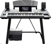 Yamaha Tyros 4 61-Key Arranger Workstation Keyboard w / stand & speake